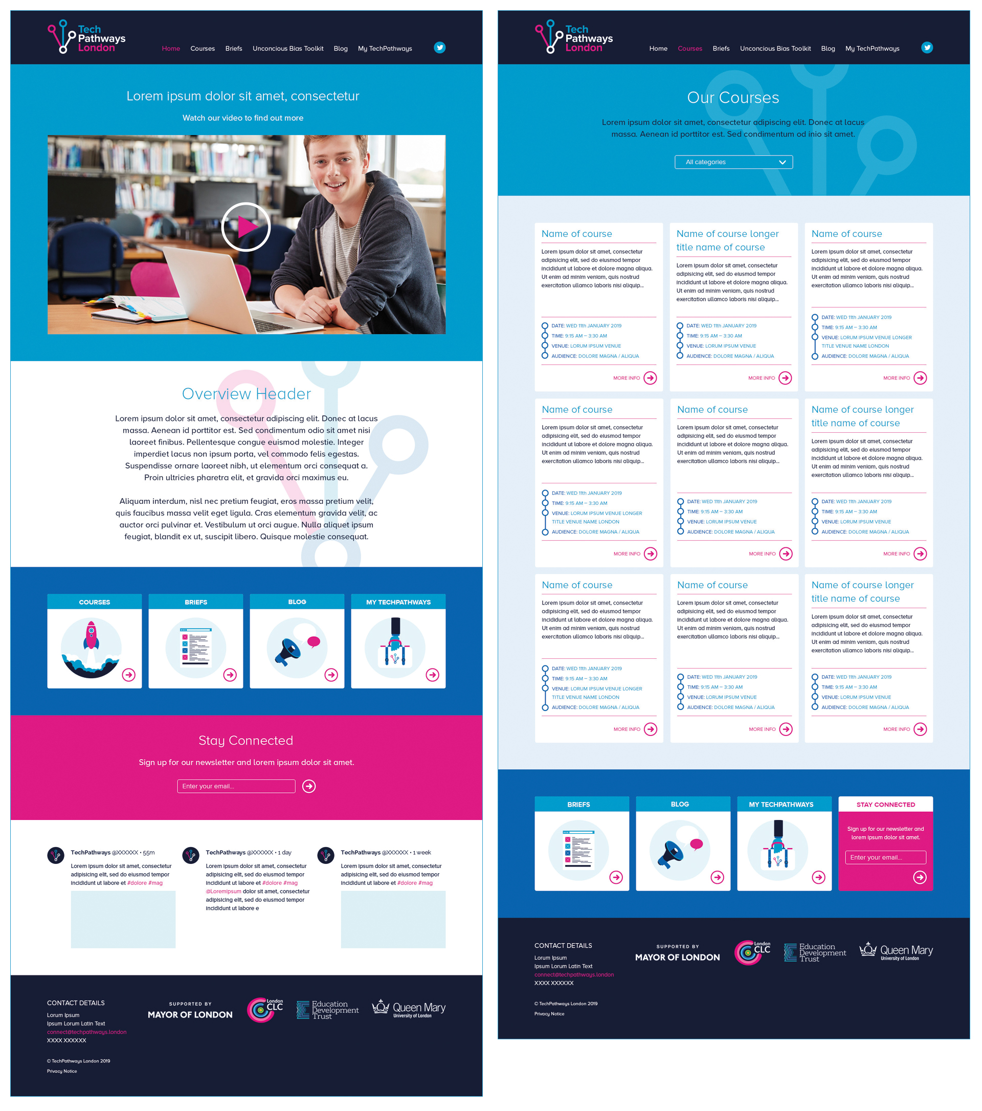 TechPathways website design