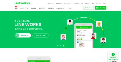 LINE WORKSのトップページ