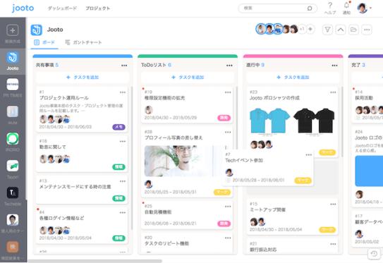 Jootoのタスク管理画面