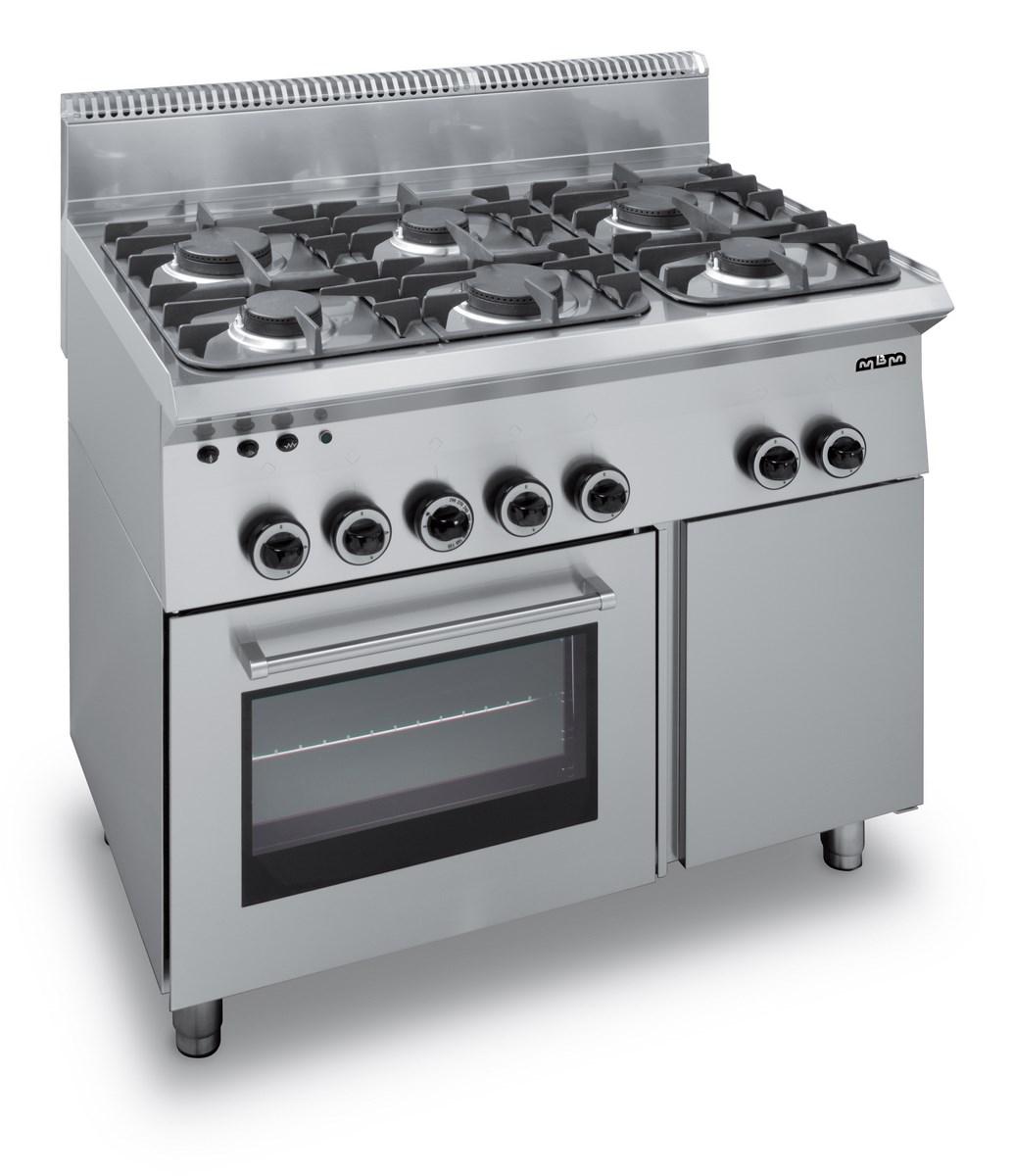 feux vifs cuisiniere a gaz 6 feux sur four a gaz avec grill electrique