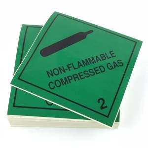 Class 2.2 Labels. Non-Flammable Compressed Gas labels
