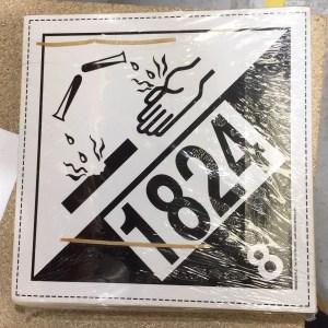 class 8 labels un1824