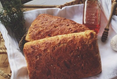 Buttermilk Bread and Rosemary Butter