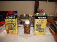 Distintos aceites usados en la restauración