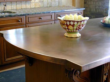 Patinated Copper Countertop Photo Source Brooks Custom