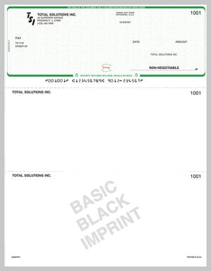 Basic Imprinted Checks