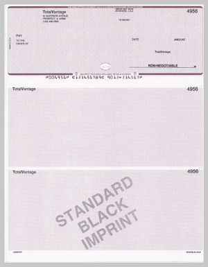 Standard Black Imprinted Checks