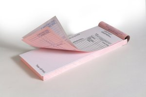 Two-Part Vertical Deposit Ticket Book