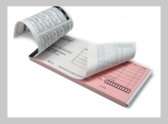Blank Check, Business Check,Two-Part Horizontal NCR Deposit Ticket Book