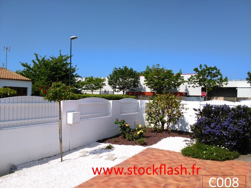 claustra cloture barriere pvc stockflash