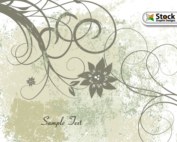 free vector grunge floral background vector photoshop brushes