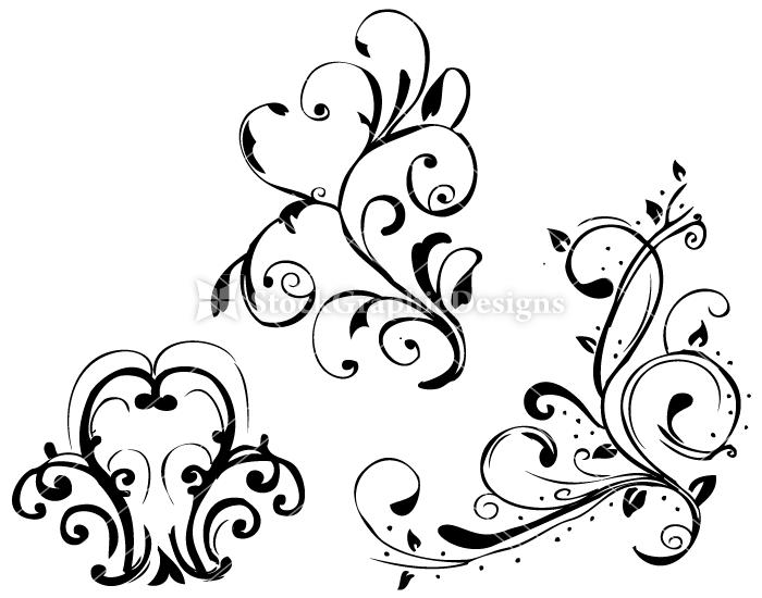 Hand Drawn Floral Set 10