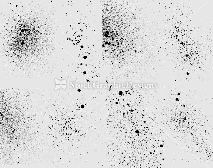 Spray Paint Splatter Vector Illustration Set-1   Vector ...