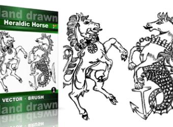 Hand_Drawn_Heraldic_Horse_Vol_1