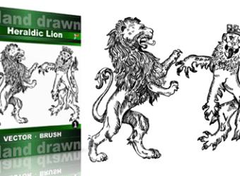 Hand_Drawn_Heraldic_Lion_Vol_1