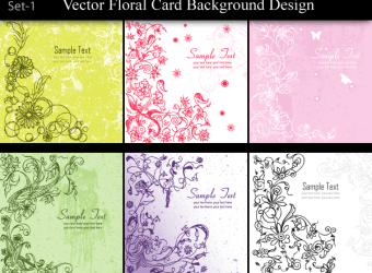 vector-floral-card-background-design-set-1