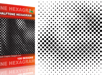 vector_and_brush_halftone_hexagram