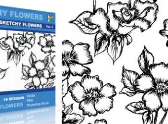 vector_sketchy_flowers_5_
