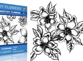 vector_sketchy_flowers_7_
