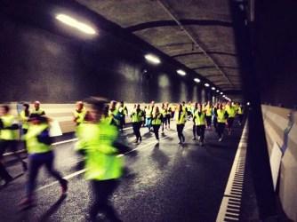 La corsa del tunnel. Foto: Stockholm Tunnel Run 2014 (FB)