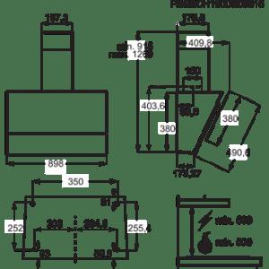 CHAMINÉ ELECTROLUX LFV619K