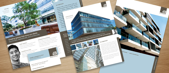 Architect marketing brochure flyer ad designs for Marketing for architects and designers