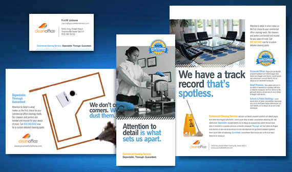 Commercial office cleaning janitorial marketing for Commercial cleaning brochure templates