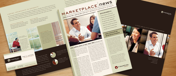 Financial Planner Brochure, Postcard, Newsletter and Stationery Designs