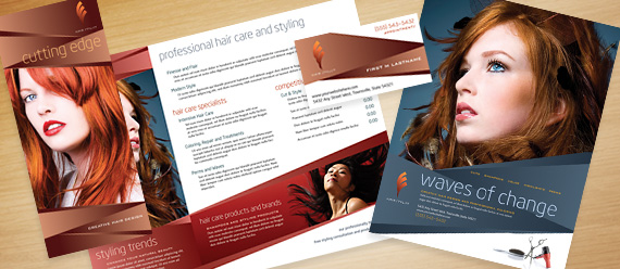 Hair Stylist  Salon Business Card  Brochure Designs