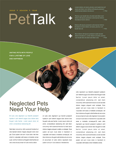 animal shelter newsletter design - Newsletter Design Ideas