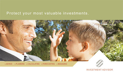 Investment Advisor Postcard Design