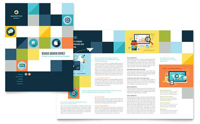 Advertising Company - Brochure Design Example