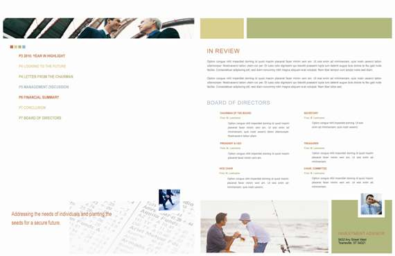 Annual Report Redesign - Pages 2 & 7