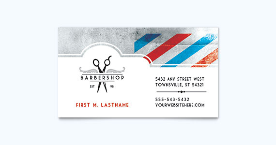 Barber Shop Business Card Design Idea