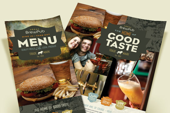 Brewery - Brew Pub - Marketing Materials - Menus, Flyers, Posters