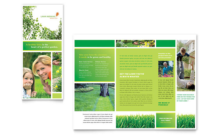 Lawn Care Brochure Design