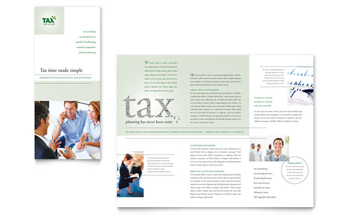 Accounting Brochure Design Idea