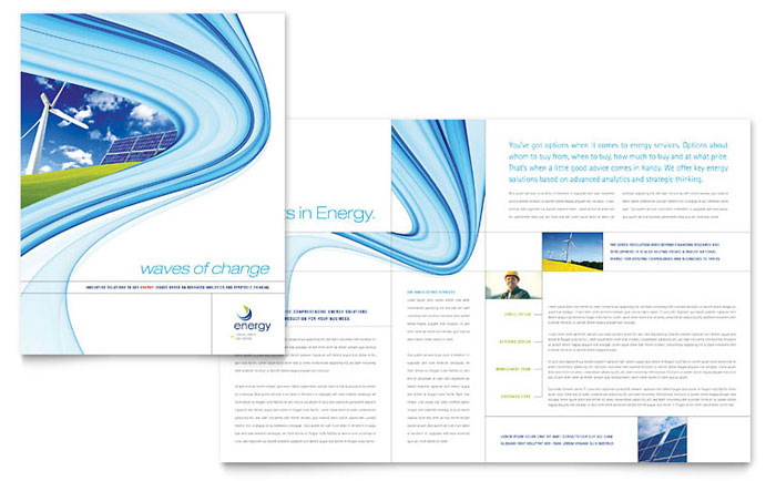 High-Tech Manufacturing Brochure Design Idea - Brochure Cover