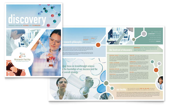 Medical Research Brochure Design Idea - Brochure Cover