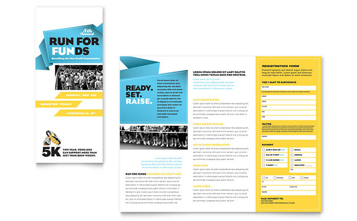 Fun Run Brochure Design Idea