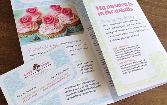 Cake Shop - Promotional Materials & Design Ideas