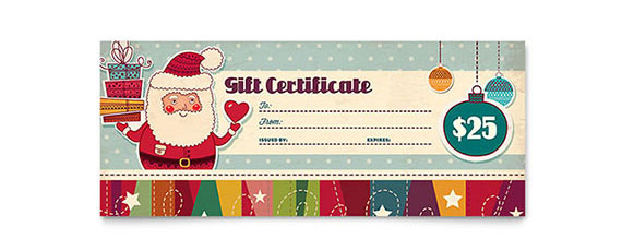 Christmas Gift Certificate Design Idea