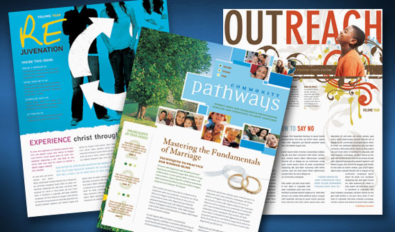 Creative Church Bulletins Christian Newsletters StockLayouts Blog - Creative newsletter design templates