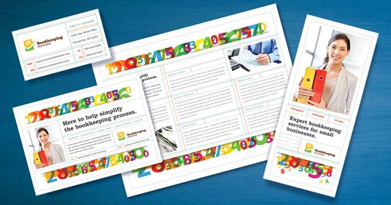 Bookkeeping Services Brochure, Flyer, Postcard Designs