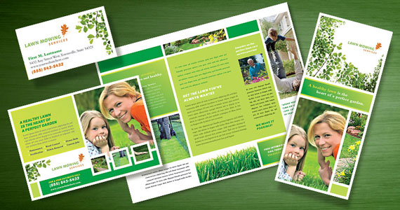 Lawn Mowing Services Brochures, Flyers, Postcards
