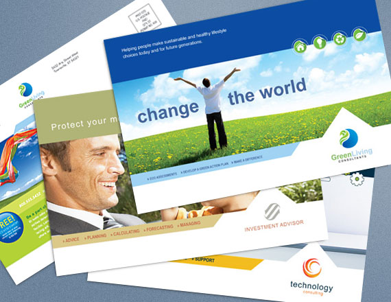 create a custom postcard for your business start with a template - Postcard Design Ideas