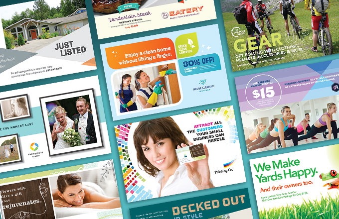 direct mail postcard design ideas from stocklayouts - Postcard Design Ideas