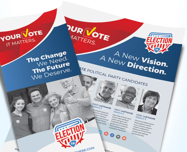 Election Poster  Flyer Designs For Winning Political Campaigns