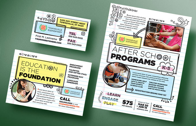 Create Elementary School Newsletters & Flyers with Editable ...