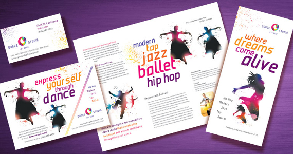 Edgy Dance Studio Marketing Designs | StockLayouts Blog